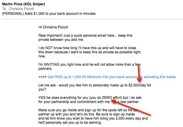 Money Looper Email