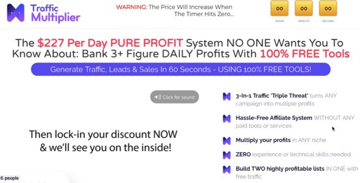 Traffic Multiplier Sales Page