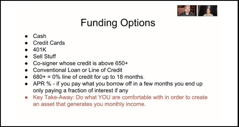 Funding options to pay for YourProfit247
