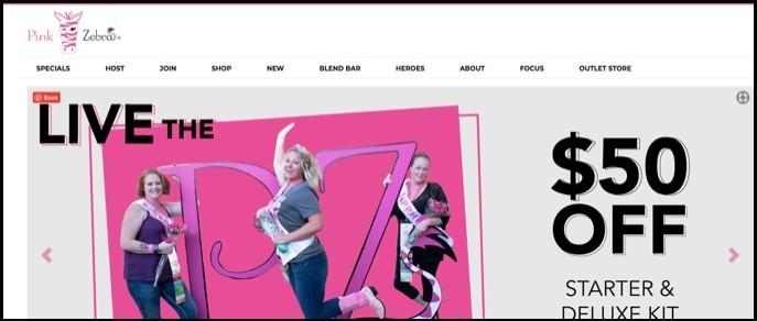 Pink Zebra Homepage