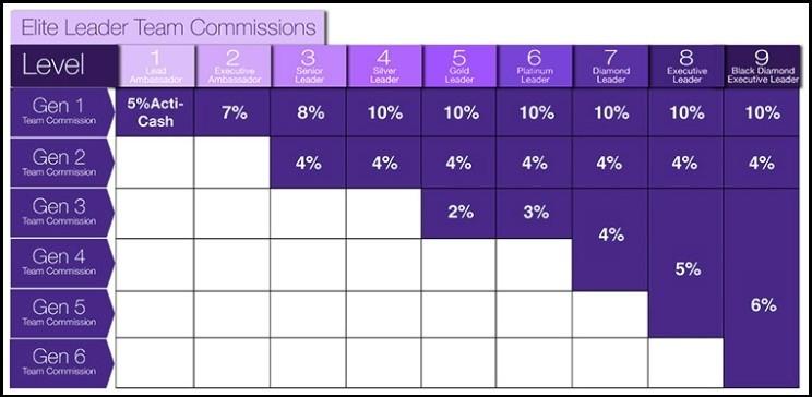 Elite Leader Team Commissions