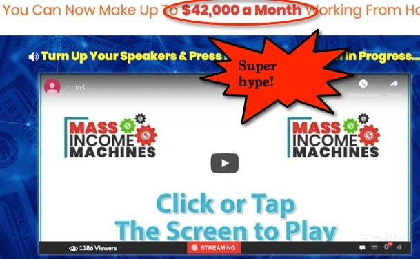 Mass Income Machine Sales Video