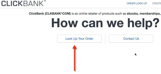 Return ClickBank Product Step 1