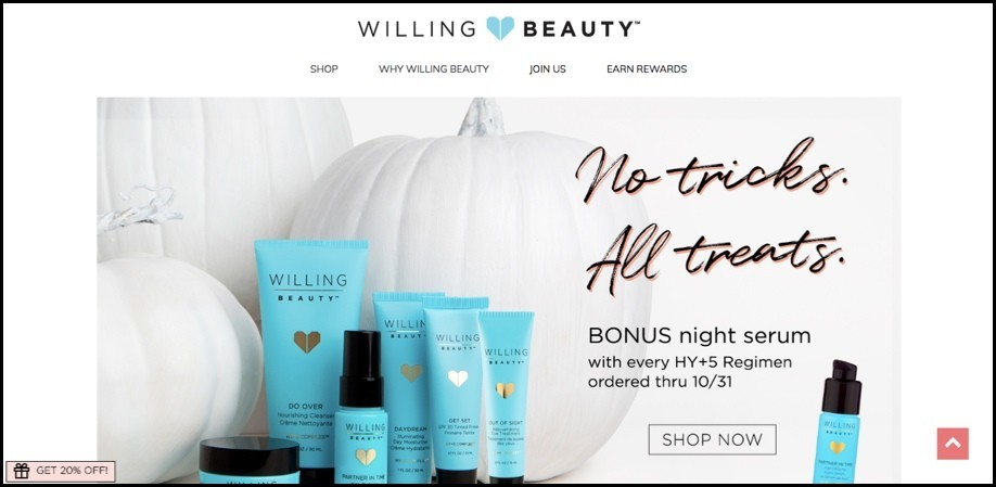 Willing Beauty homepage