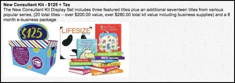 The Usborne Books Consultant kit is $125.