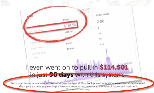 Biz Building Blocks ridiculous income claim