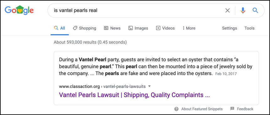 Is Vantel Pearls real?