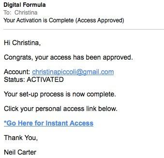 Ad Formula Email