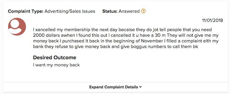 My Ecom Club complaint number 2
