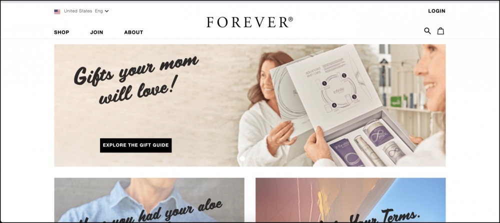 Forever Living homepage