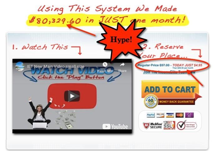 Income Elite Team Sales Video