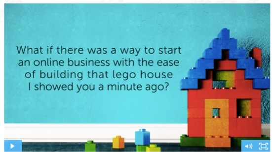 Building an online business is like building a lego house