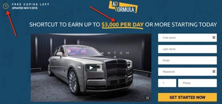 Ad Formula Sales Hype