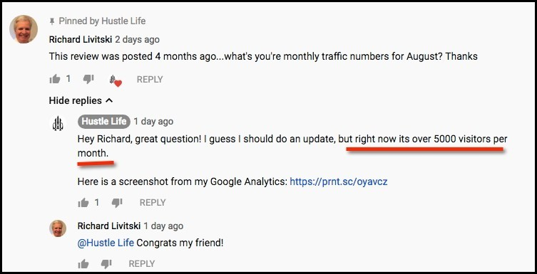 Project 24 Member is seeing success with his traffic.