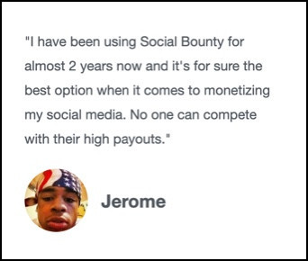 Jerome's testimonial is fake