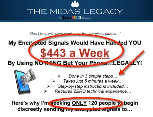 The Midas Legacy Encryption Sales Page
