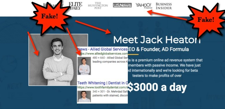 Ad Formula Fake CEO