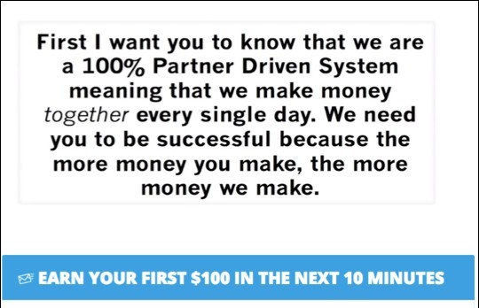 This is a partner-driven system. When we make money, they make money.