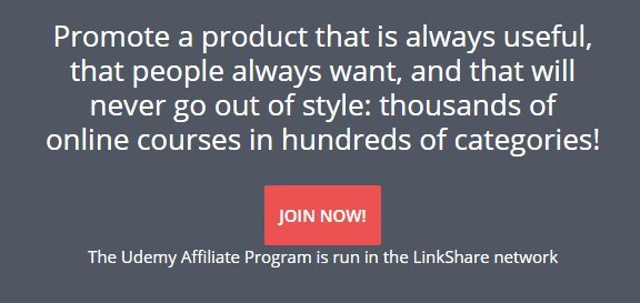 Udemy Affiliate Program Banner