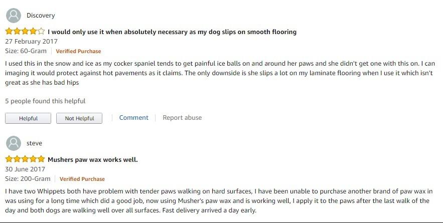 Mushers Secret reviews
