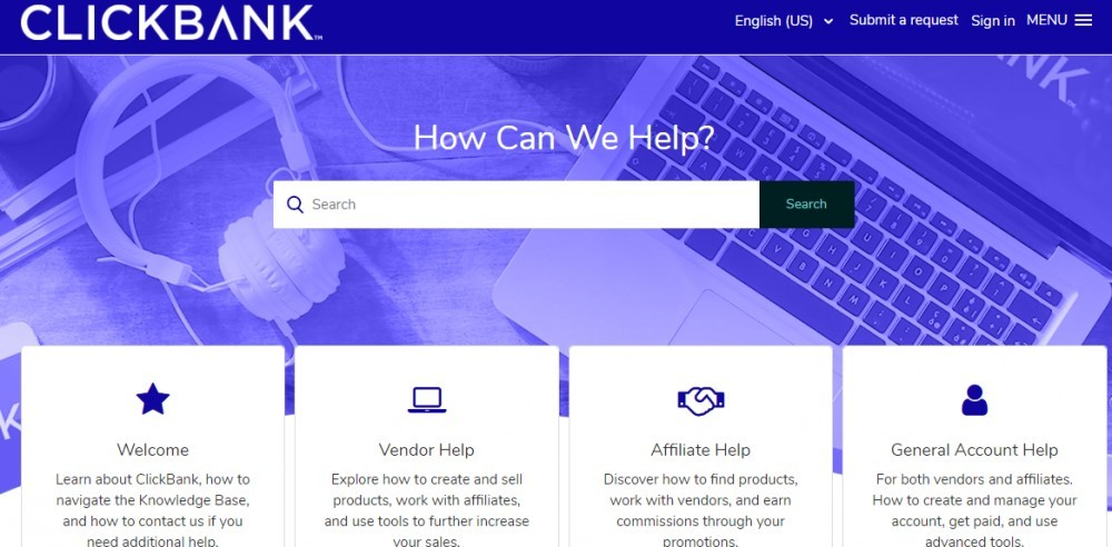 Clickbank Sign Up page
