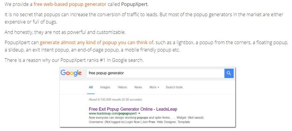 LeadsLead PopupXpert