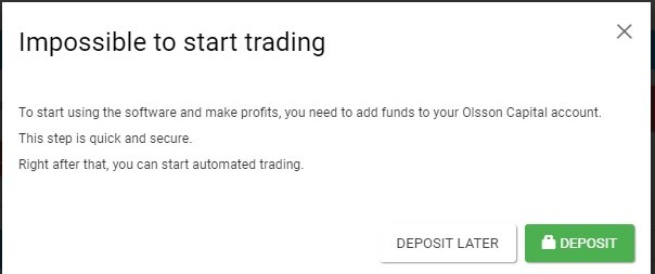 Brit Method Impossible to start trading