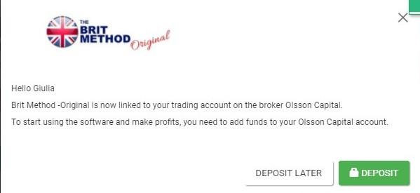 Brit Method Deposit