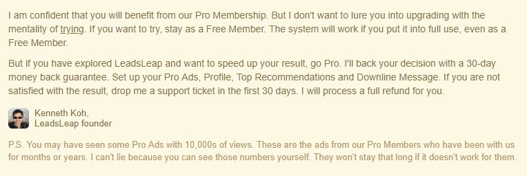LeadsLeap Pro Plan Refund Policy