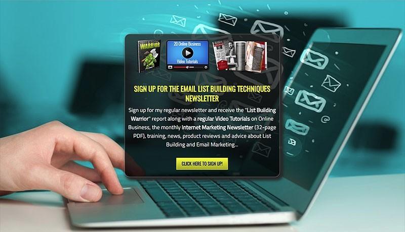 Email List Building Techniques Squeeze Page