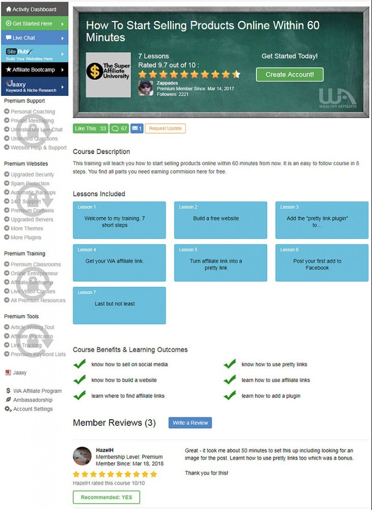 My Wealthy Affiliate Review: Is It The Best Affiliate Course?