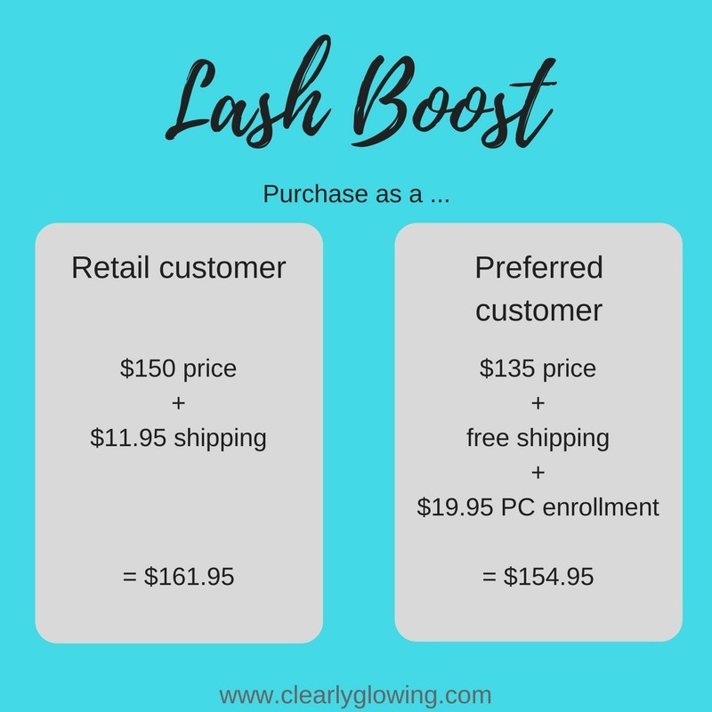 how much does lash boost cost