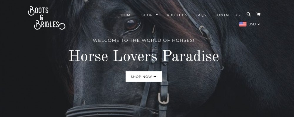 shop at the equestrian boots and bridles store