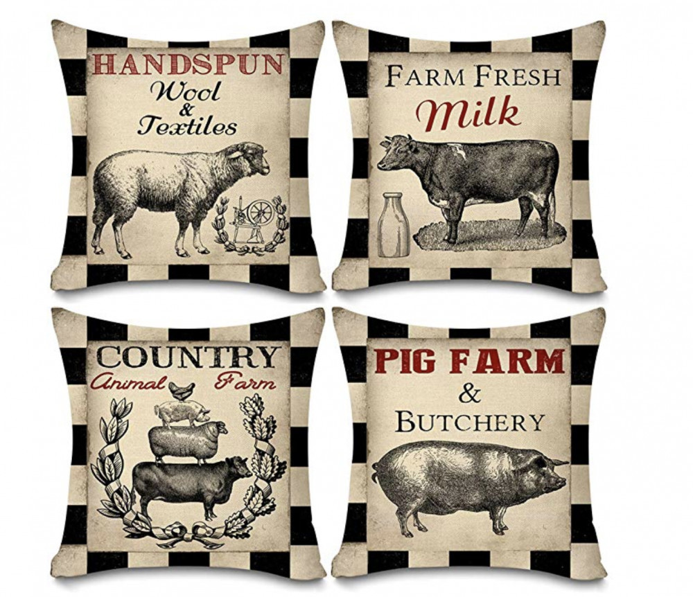 Rustic Decor - Farm Themed Throw Pillows
