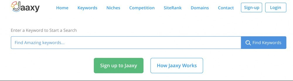 Free Keyword Search with Jaaxy