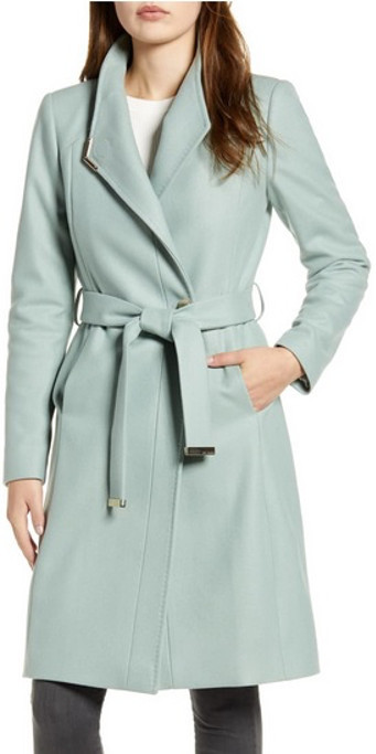 Mint Green Ted Baker Wrap Coat