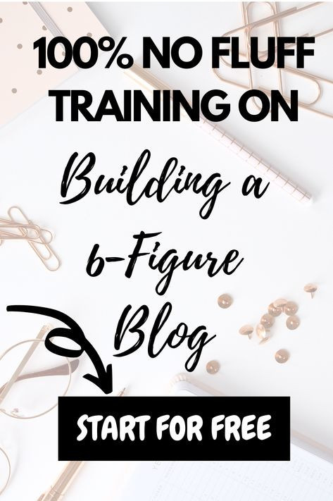 no fluff training on building a 6-figure blog from scratch