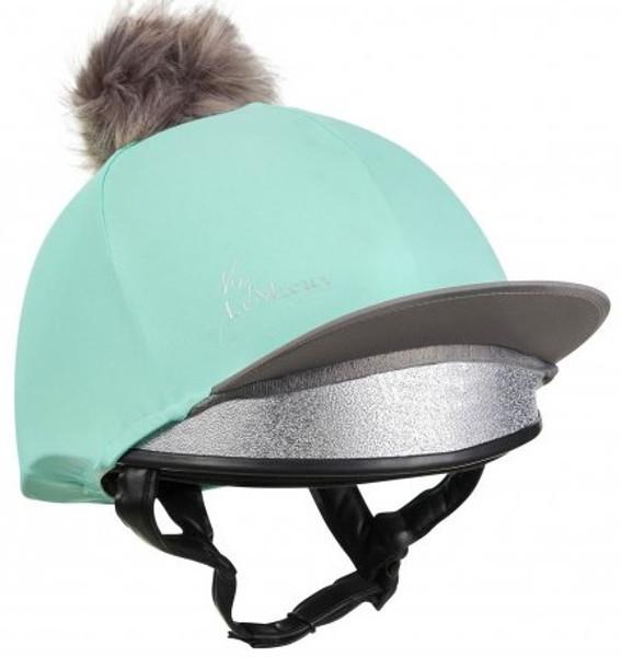 horseback riding outfit ideas - Lemieux Pompom Helmet Cover