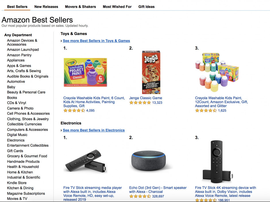 use amazon best sellers to find a product to sell