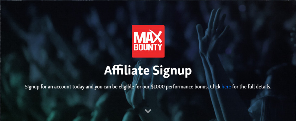 maxbounty affiliate sign up