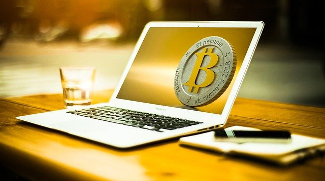 cryptocurrency on laptop