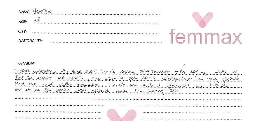 femmax testimonial