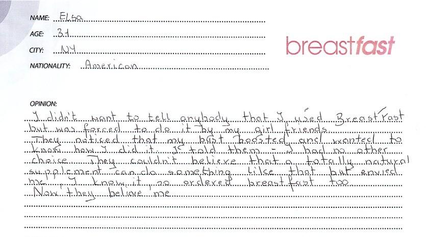 testimonial about BreastFast pills