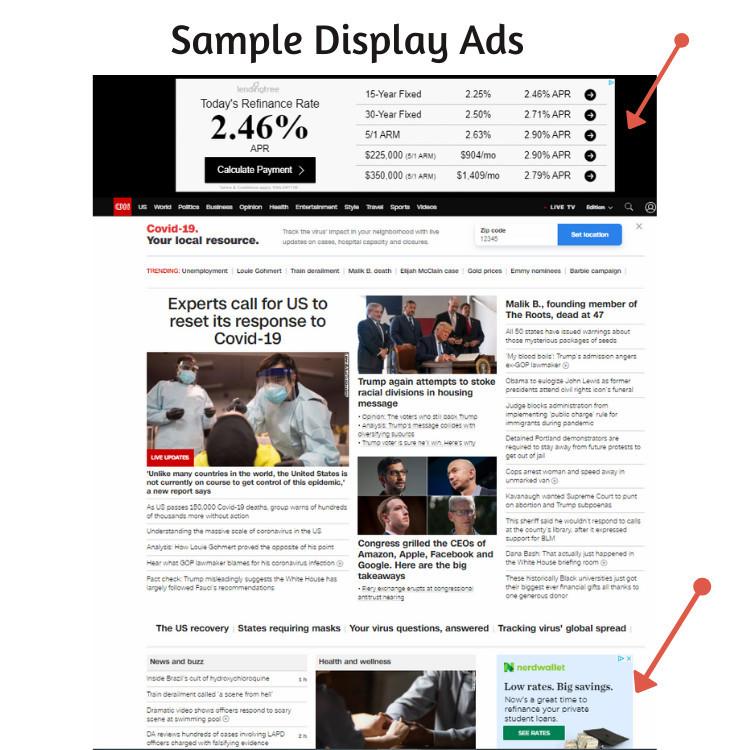 Sample Display Ads - CNN Website