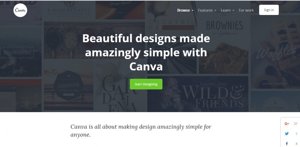 Canva Banner Screenshot