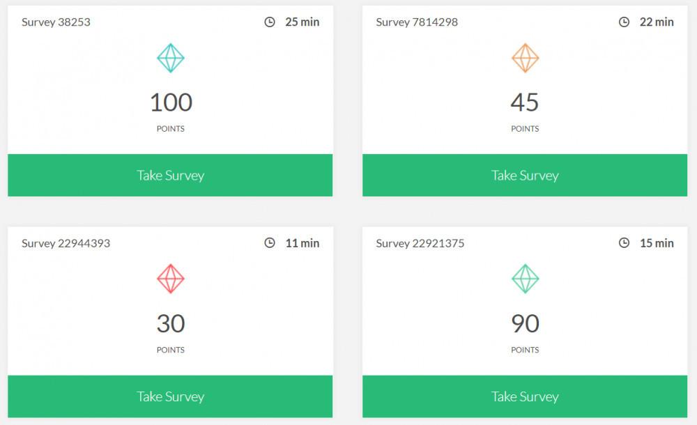 Sample Survey Offerings