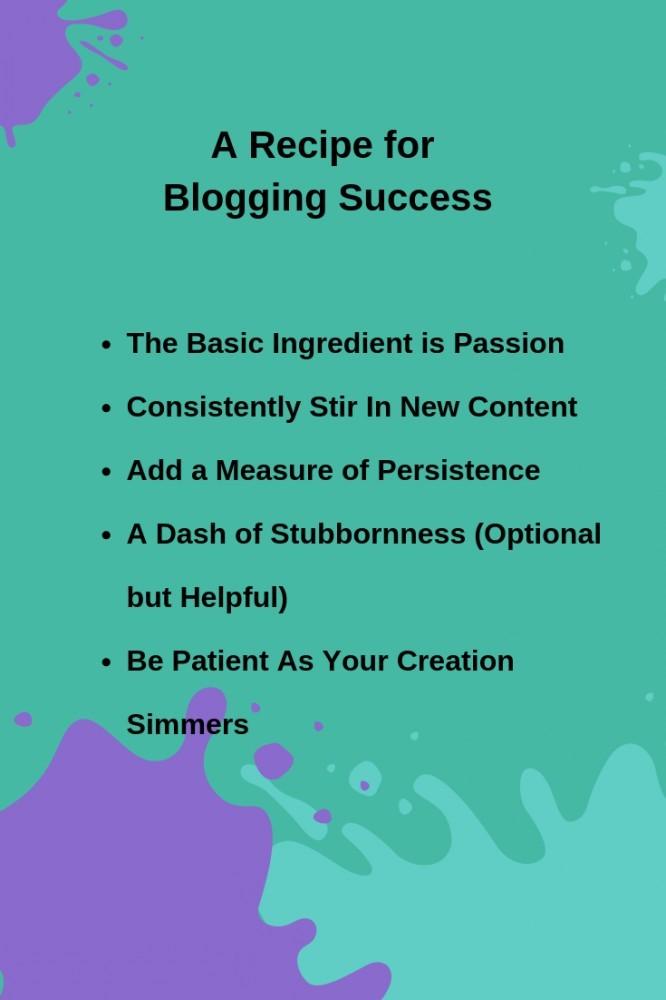 A Recipe for Blogging Success
