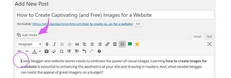 How to Embed an Image in WordPress