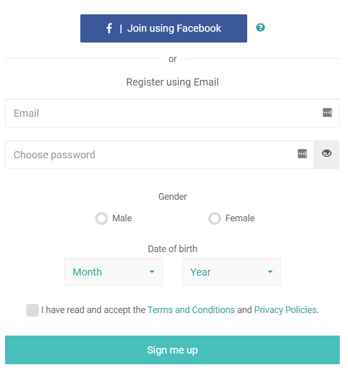 Ipsos I-Say Sign-up Screen