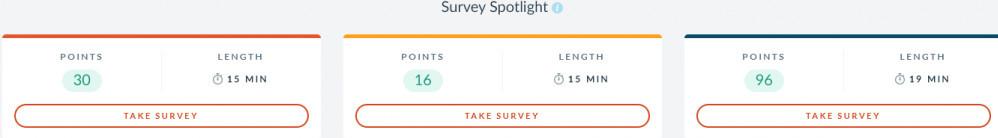 Surveys on My Branded Surveys Dashboard